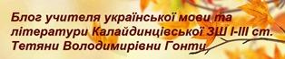 Блог Гонти Т.В.
